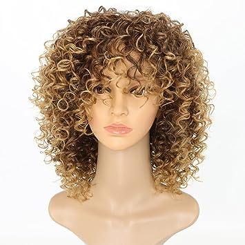 Amazon Com Mixed Brown Blonde Hair Color Fiber Synthetic Hair
