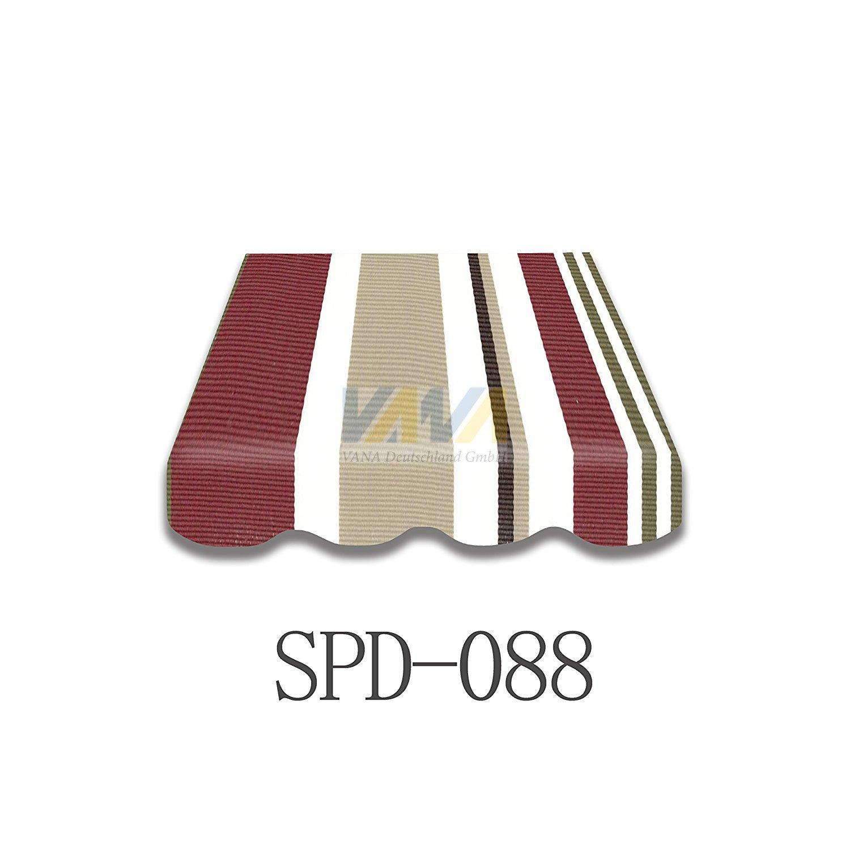Markisenstoff SPD088 Ersatzstoff PLUS Volant fertig genäht 4x3 m (3,53)