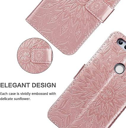 Grigio Carta Fessura Magnetica Chiusura con Lanyard per Huawei Honor 8 Cover Portafoglio in Vera Pelle SsHhUu Custodia Huawei Honor 8 5.2