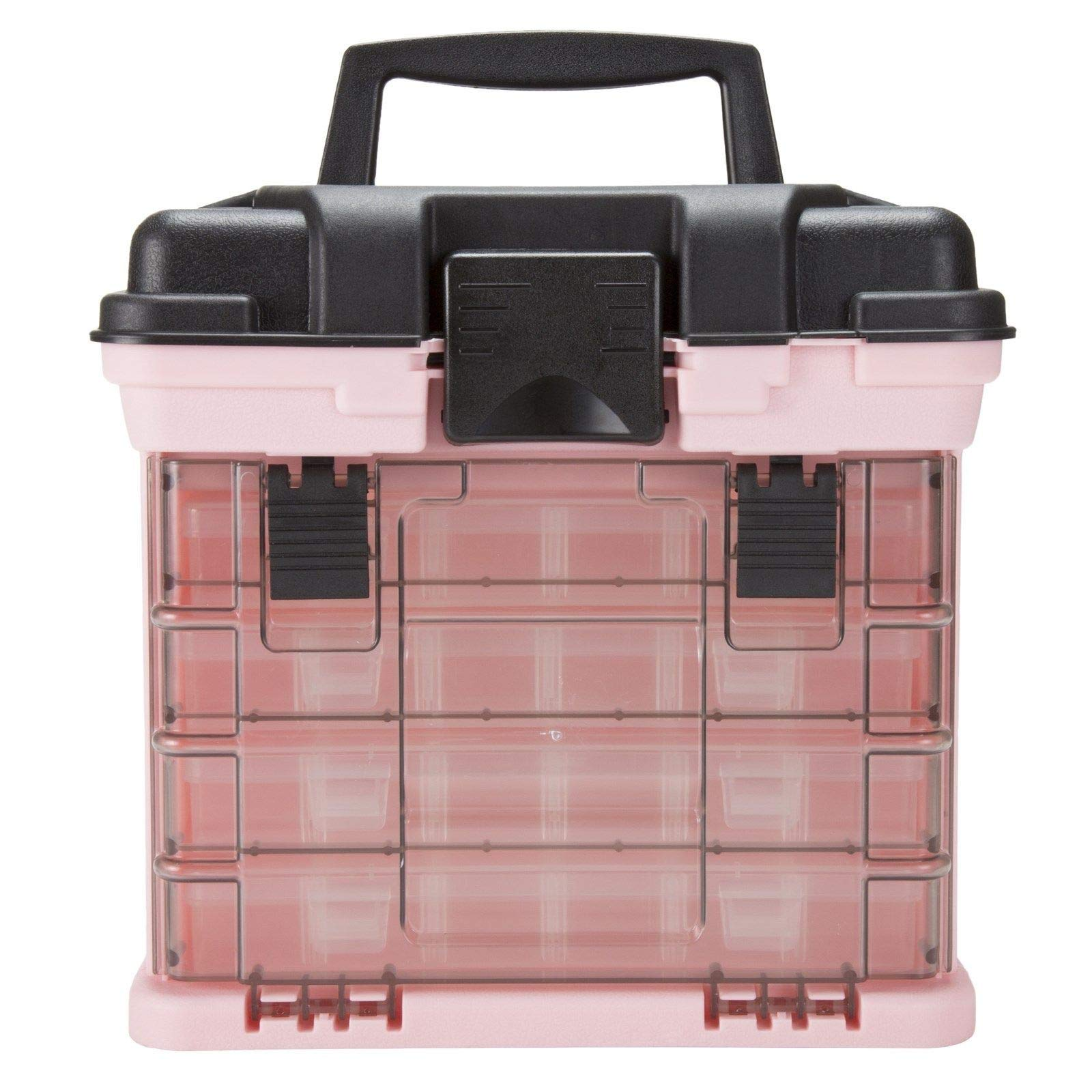 Adumly Color Pink Plastic Storage Crafts or Beads Removeable Trays Compartments