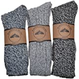 3 Pairs of Thick Warm socks Wool Blend Boot socks Walking