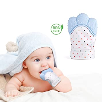 Baby Teething Mitten Soother Glove-Teething Toys Provides Self-Soothing Fun  -Pain Relief 8775856e5f