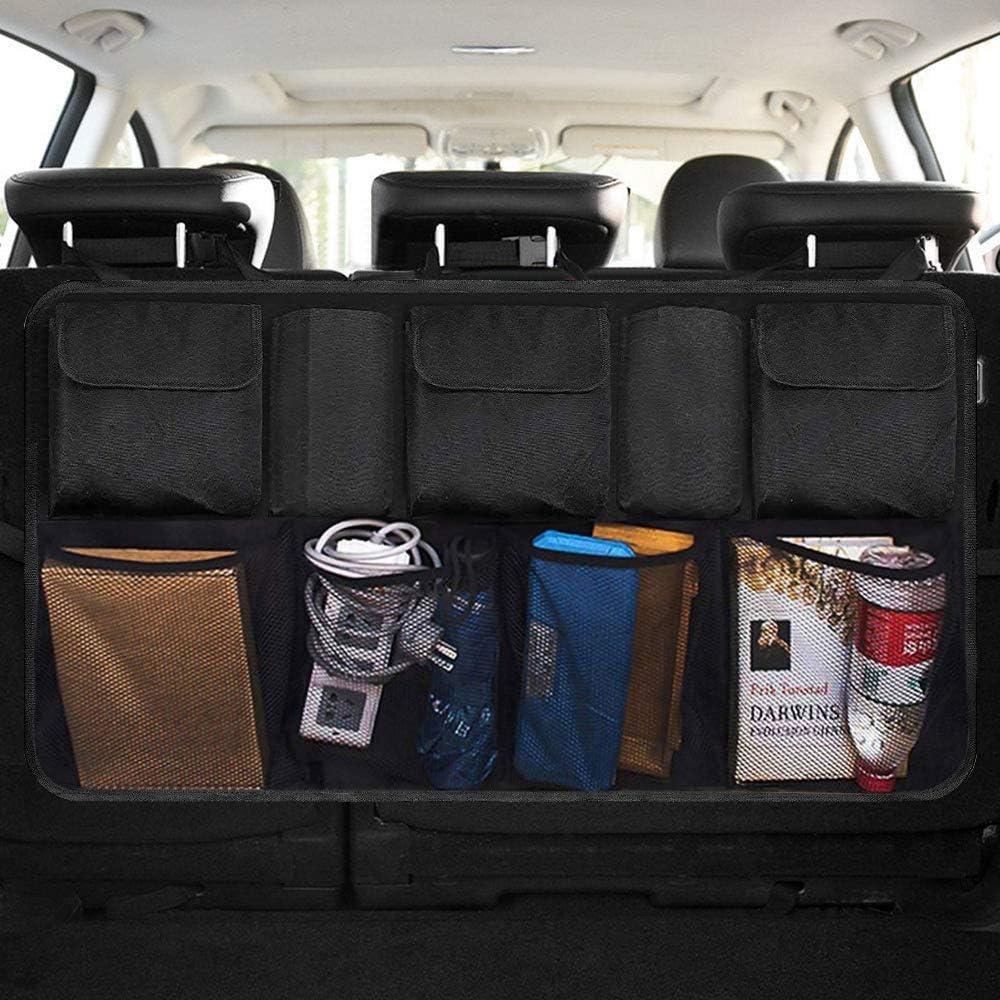 Autotasche Aufbewahrung f/ür SUV Kofferraum Organizer Auto MPV mit Hochwertiges Oxford Tuch Material Gro/ße Stauraum Taschen Autoorganisator Stauraum Organisierte Kofferraumtasche f/ür ordnung XXL