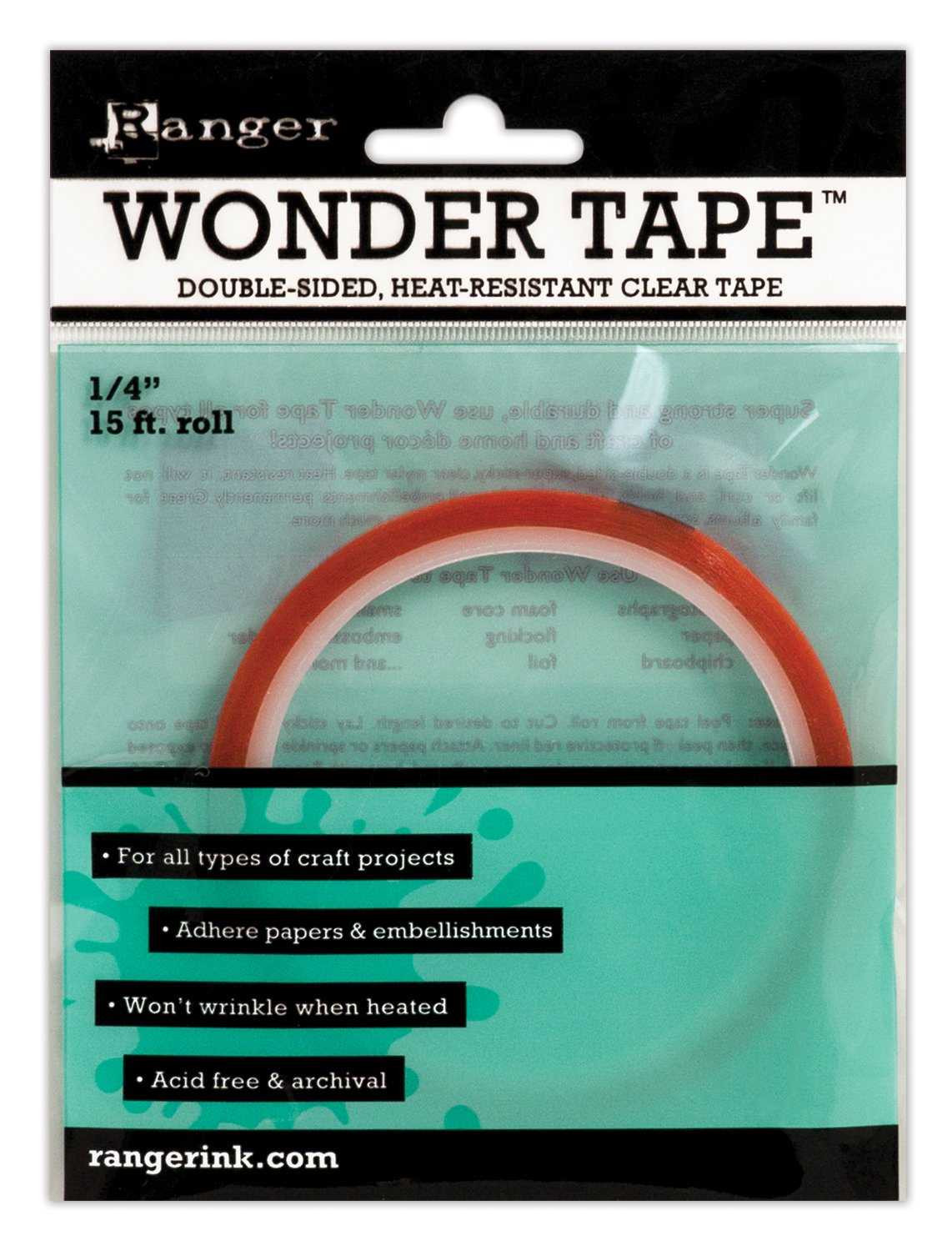 Double sided craft tape - Amazon Com Ranger Iwt27386 Inkssentials Wonder Tape Roll 15 Feet By 1 4 Inch