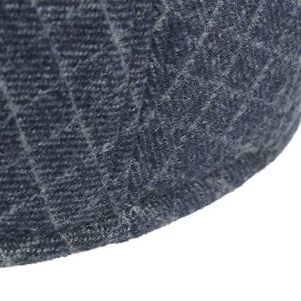 ac29e0855dcc GEMVIE Casquette Homme Béret Vintage Carreau Chapeau Hiver Rétro Plat Bleu Tour  De Tête 58cm  Amazon.fr  Vêtements et accessoires