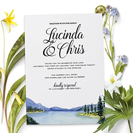 amazon com elopement reception party invitation cards