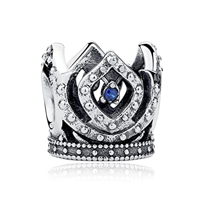 9258e00ed Everbling Princess's Crown with Blue CZ 925 Sterling Silver Bead Fits  European Charm Bracelet