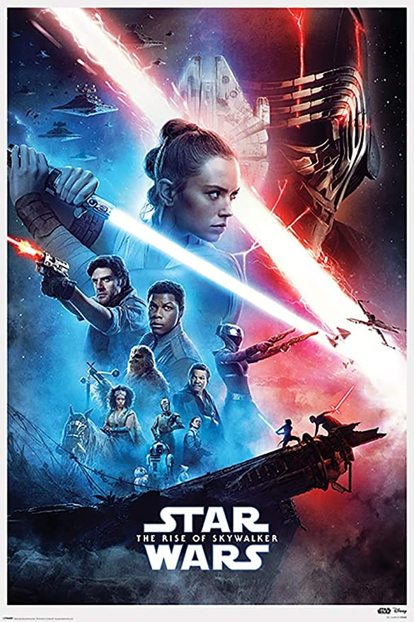 Amazon Com Star Wars The Rise Of Skywalker Movie Poster Regular Style White Border Size 24 X 36 Inches Posters Prints