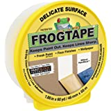 FROGTAPE 280222 Delicate Surface Painter's Tape with PaintBlock, 1.88 inch Width, Yellow