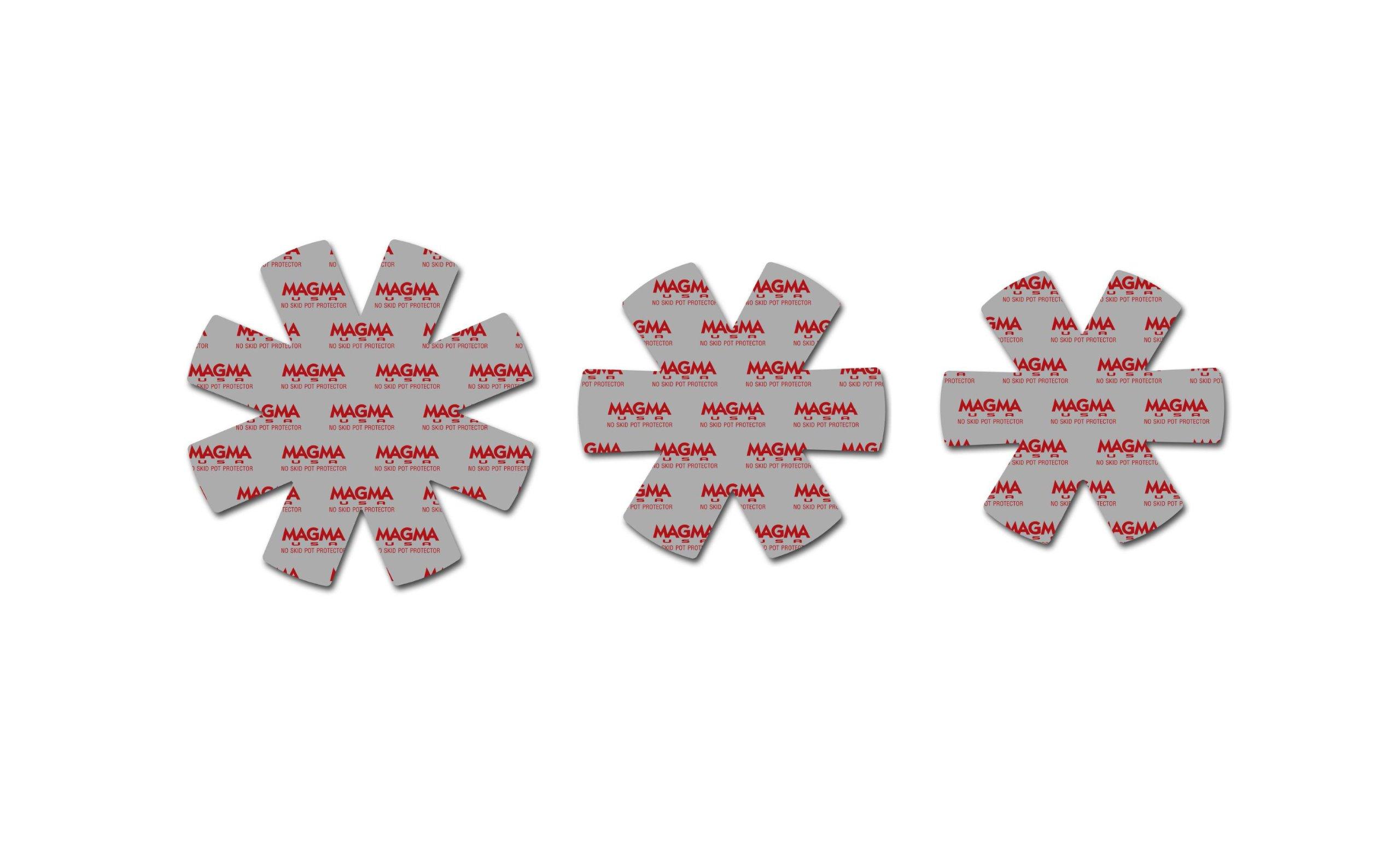 Magma Products, A10-368 No-Skid 3-Piece Pot Protectors Set, Grey