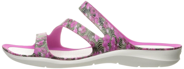 Crocs Women's Swiftwater Graphic Sandal B01H745JD4 9 M US|Pink/Floral