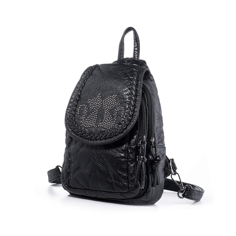 d1c408d6b6b44 Amazon.com  Katloo Mini Backpack Purses Women Small Vegan Leather Sling Bag  Nail Clipper Black  Shoes