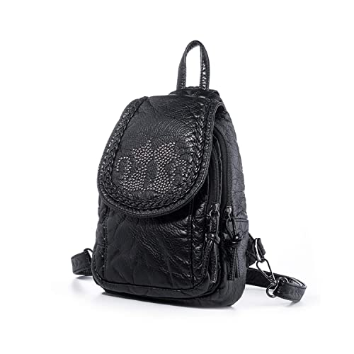 19f104ff32ae Amazon.com  Katloo Mini Backpack Purses Women Small Vegan Leather Sling Bag  Nail Clipper Black  Shoes