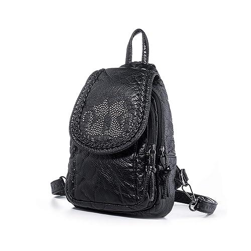 c2e9f06997 Amazon.com  Katloo Mini Backpack Purses Women Small Vegan Leather Sling Bag  Nail Clipper Black  Shoes