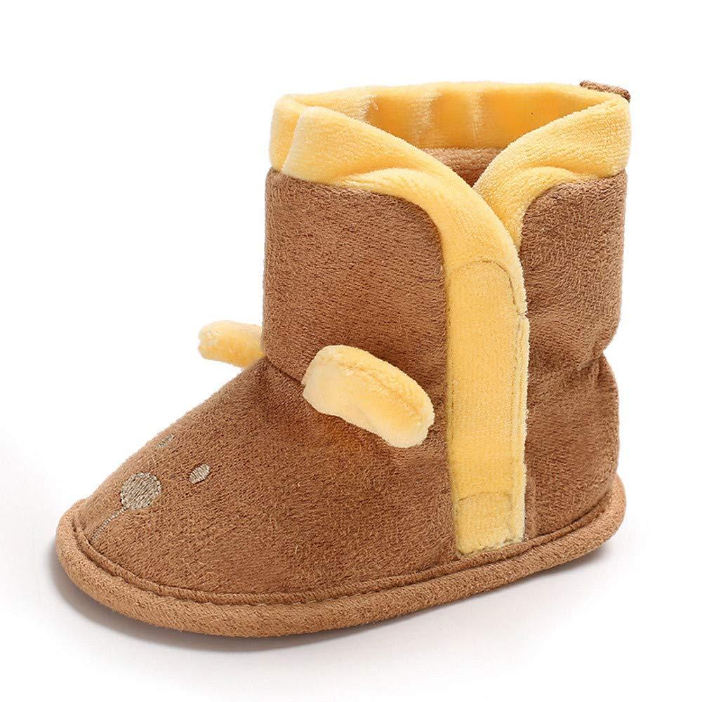 FreshZone Newborn Baby Crib Boys Girls Soft Boots Cartoon Winter Boots Prewalker Warm Shoes