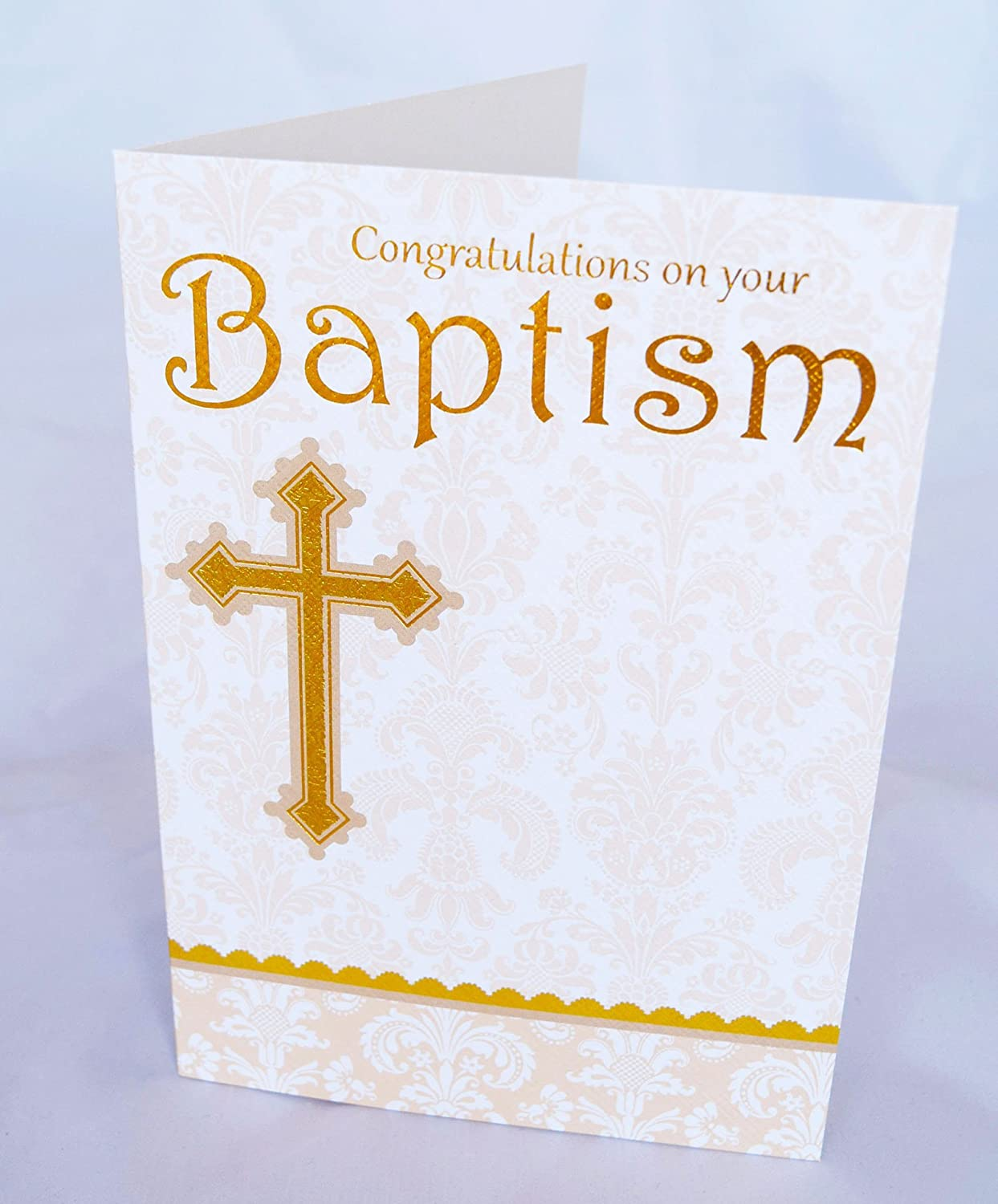 Congratulations On Your Baptism Card Christening Adult Child