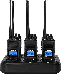 SAMCOM Two Way Radios Six-Way Battery Gang Charger Bulk Bank Multi Charger with Power Adapter Desktop Battery Charging Station Base 8.4V 500mA for SAMCOM FPCN30A