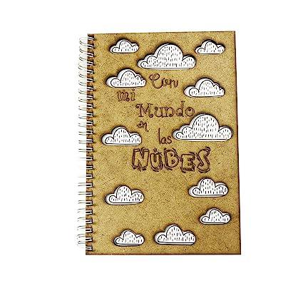 Agenda de Tapa de Madera 2018/2019 Con mi Mundo en las Nubes ...