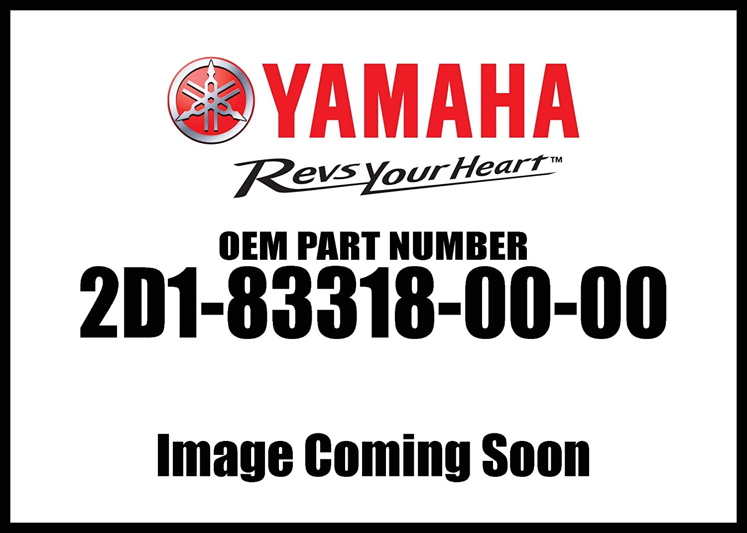 FLASHER 1; 2D1833180000 2C0-83318-00-00 Yamaha 2D1-83318-00-00 STAY 2D1-83318-00-00