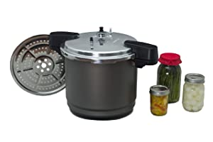 Granite Ware Pressure Canner and Cooker/Steamer, 12-Quart, Black