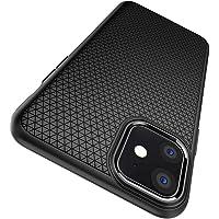 【Spigen】 iPhone 11 ケース 6.1インチ 対応 TPU 耐衝撃 米軍MIL規格取得 カメラ保護 傷防止 衝撃吸収 Qi充電 ワイヤレス充電 リキッド・エアー 076CS27184 (マット・ブラック)