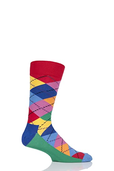 Happy Socks Big Dot Block Sock, Calcetines Casual para Mujer (Pack de 6): Amazon.es: Ropa y accesorios