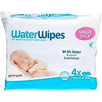 WaterWipes WaterWipes 4x3 60Pack (Value Pack), 4 Packs (240 Wipes)2.1 kilograms