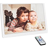 Support USB Drive MUYEY 1920x1080 16:9 IPS Screen 17.3 inches Digital Photo Frame HD Digital Picture Frame 1080P HD Video Frame SD//TF//MS Card,White