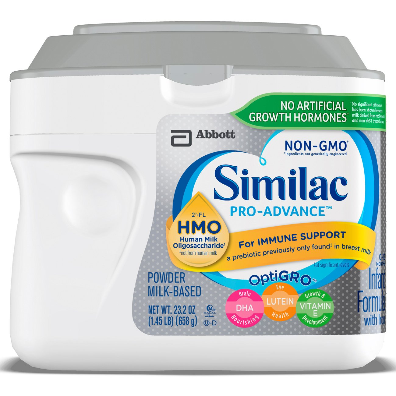 Similac Pro-Advance Non-GMO Infant Formula with Iron, with 2'-FL HMO, For Immune Support, Baby Formula, Powder, 23.2 ounces, 6 count