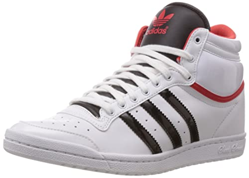 huge discount 6d9d8 3e500 adidas Originals Women s Top Ten Hi Sleek Up W Ftwr White, Core Black and  Red