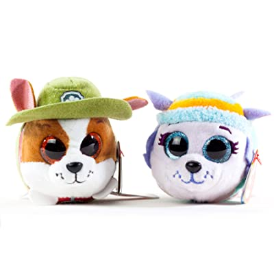 BEANIE BOOS TY Teeny Paw Patrol Bundle with Everest and Tracker - 2 x 4 inch Pets: Toys & Games