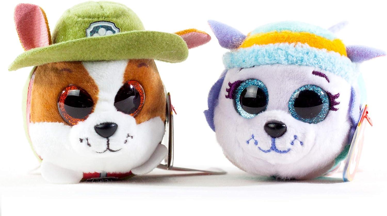 "TY Beanie Boos 3/"" Paw Patrol Dog ROCKY Key Clip Stuffed Animal Plush Heart Tags"
