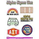 Alpha Sigma Tau - Sticker Sheet - Retro Theme