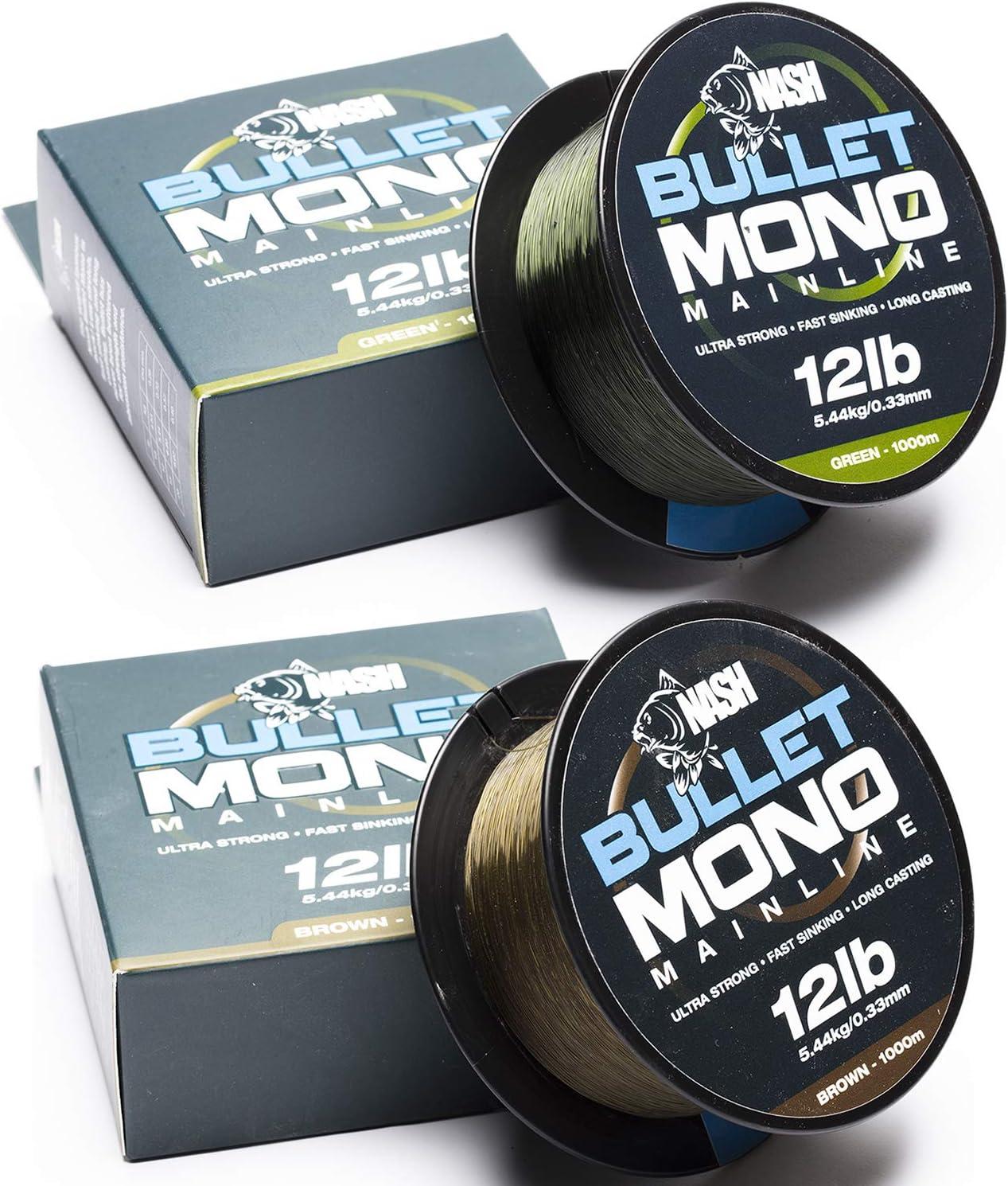 Nash TT Fil Nylon Bullet Mono 10lb Brun