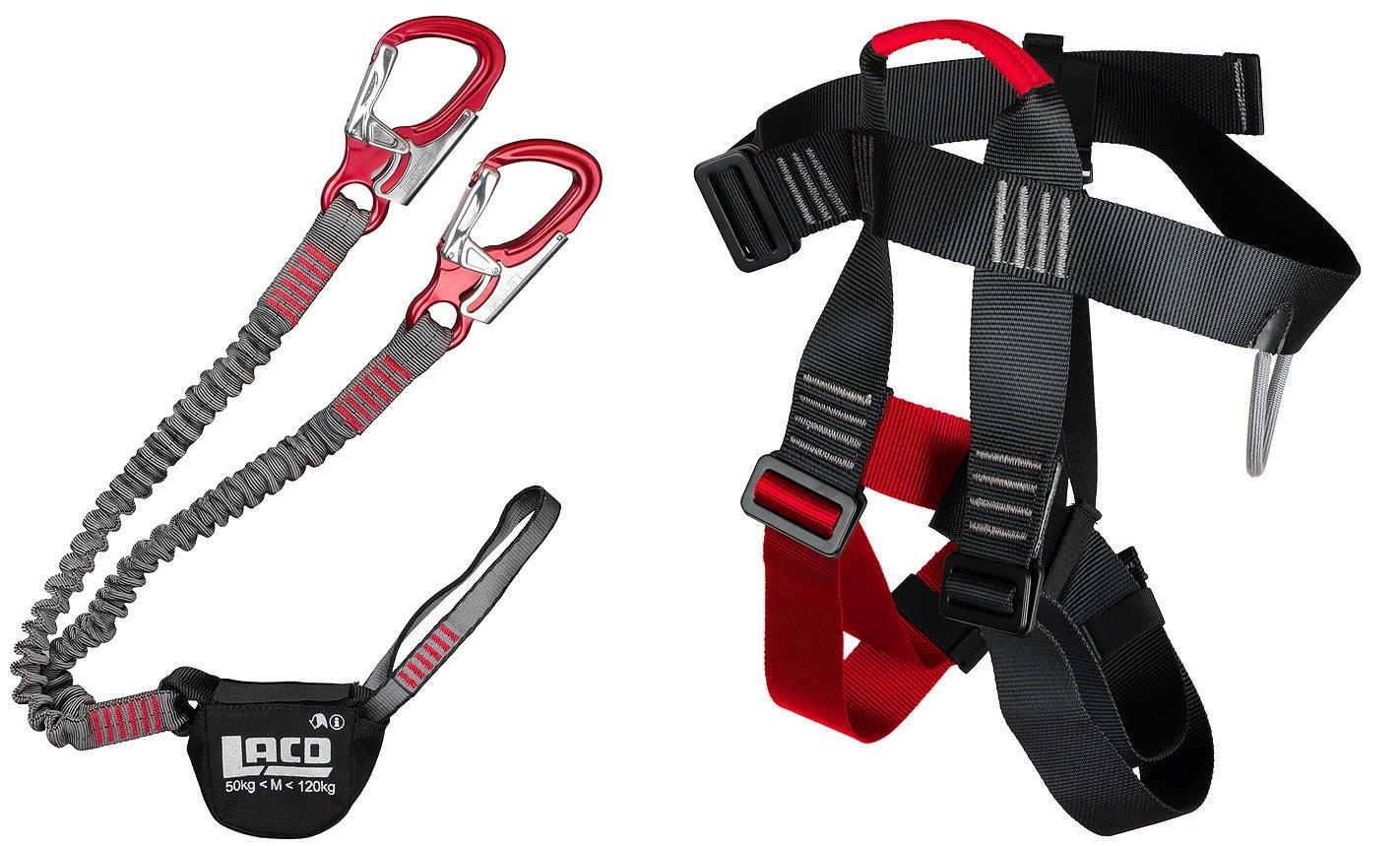 Klettersteigset Unterschiedlich Lang : Klettersteigset lacd pro evo red klettersteiggurt easy