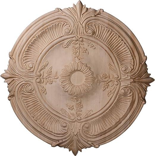 Ekena Millwork CMW20TRRO Ceiling Medallion 20OD x 1 3//4P Red Oak