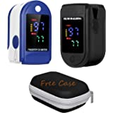 Festnight 2PCS Finger Pu-lse Ox-Meter OLED Display with Storage Case