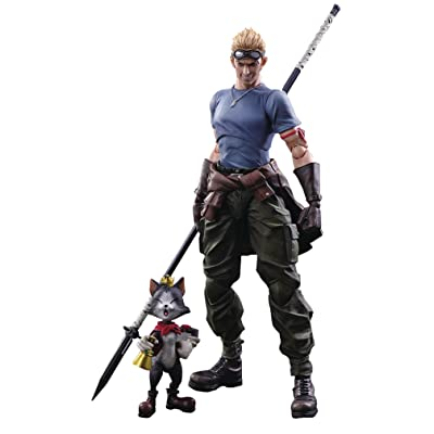 Square Enix Final Fantasy VII Advent Children: CID Highwind & Cait Sith Play Arts Kai Action Figure 2 Pack: Toys & Games