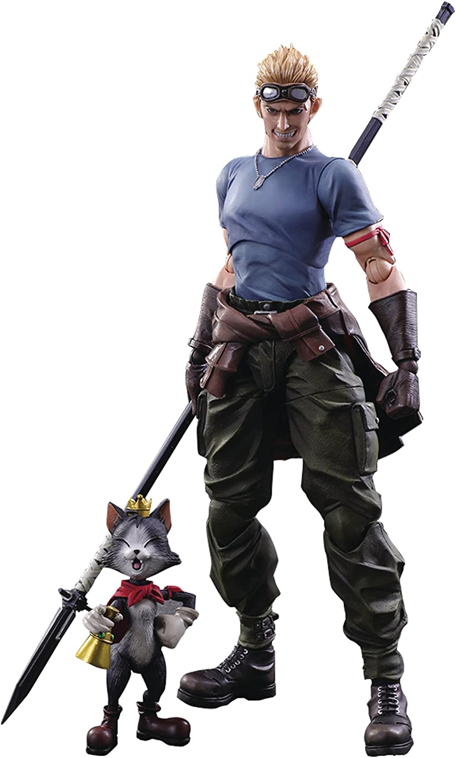 Original Play Arts Final Fantasy VII Barret Wallace Cloud Action Figure NO BOX