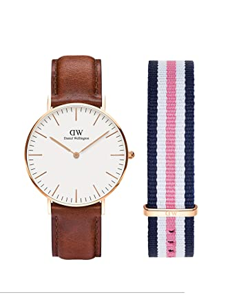 97ce4d4b767c Buy Daniel Wellington Classic St Mawes 36mm Rose Gold Watch + Classic  Southampton 18mm Strap - Watch and Strap Combo Online at Low Prices in  India - Amazon. ...
