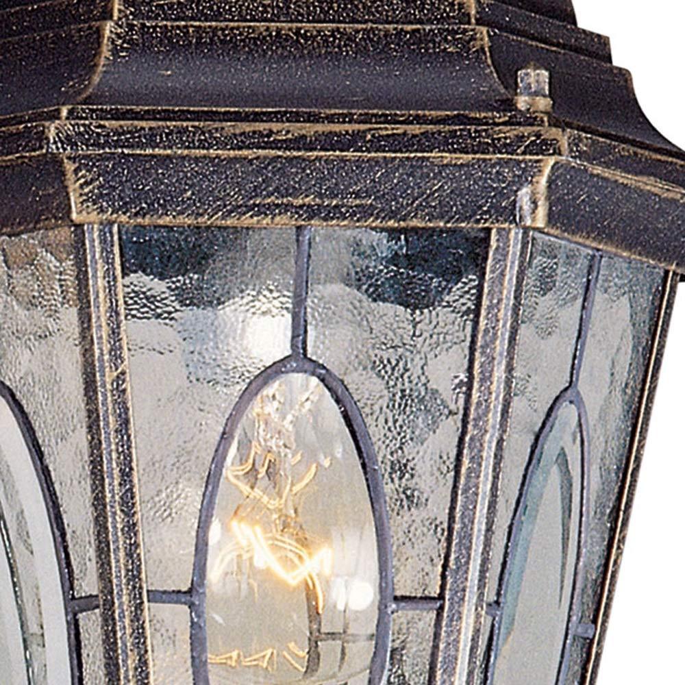 Wapipey Retro Vintage Traditional Column Light Waterproof Outdoor Pillar Light Fence European Villa Garden Lantern Courtyard Landscape Lighting Fixture E27 by Wapipey (Image #3)