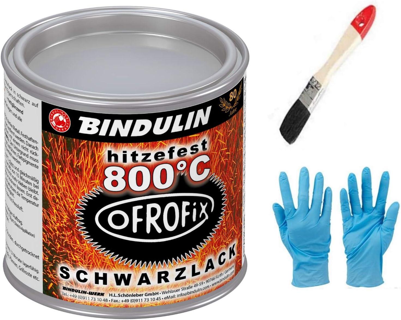 Ofrofix 800 C 125 Ml Dose Farbe Schwarz Inkl 1 Pinsel Zum Auftragen Und Nitrilhandschuhe Von E Com24 Bürobedarf Schreibwaren