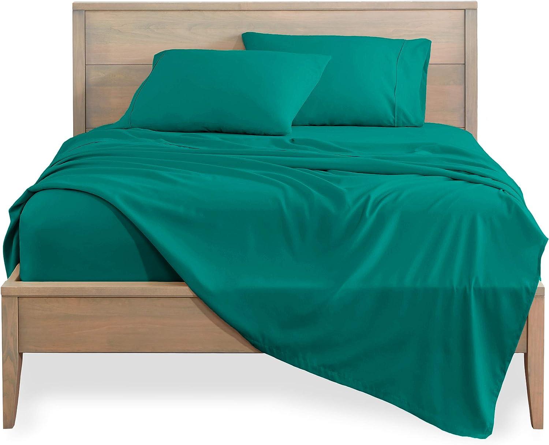 Bare Home King Sheet Set - 1800 Ultra-Soft Microfiber Bed Sheets - Double Brushed Breathable Bedding - Hypoallergenic – Wrinkle Resistant - Deep Pocket (King, Emerald)