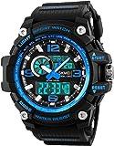 Relojes Deportivos para Hombre, Resistente al Agua Digital Militares Relojes con Cuenta atrás para los Hombres niños…
