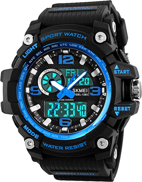 Relojes deportivos para hombre, resistente al agua digital ...