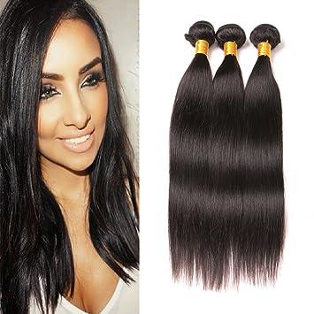Cheap Brazilian Natural Straight Wave Bundles 10 12 14 Inch 100%  Unprocessed Virgin Remy Hair 7f3508595