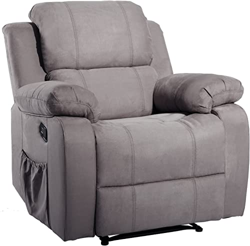 Suede Heated Massage Recliner Sofa Chair Ergonomic Lounge