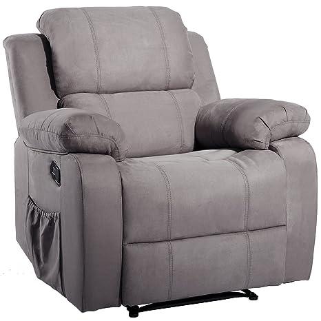 Amazon.com: Sofá reclinable de masaje, Gamuza: Kitchen & Dining