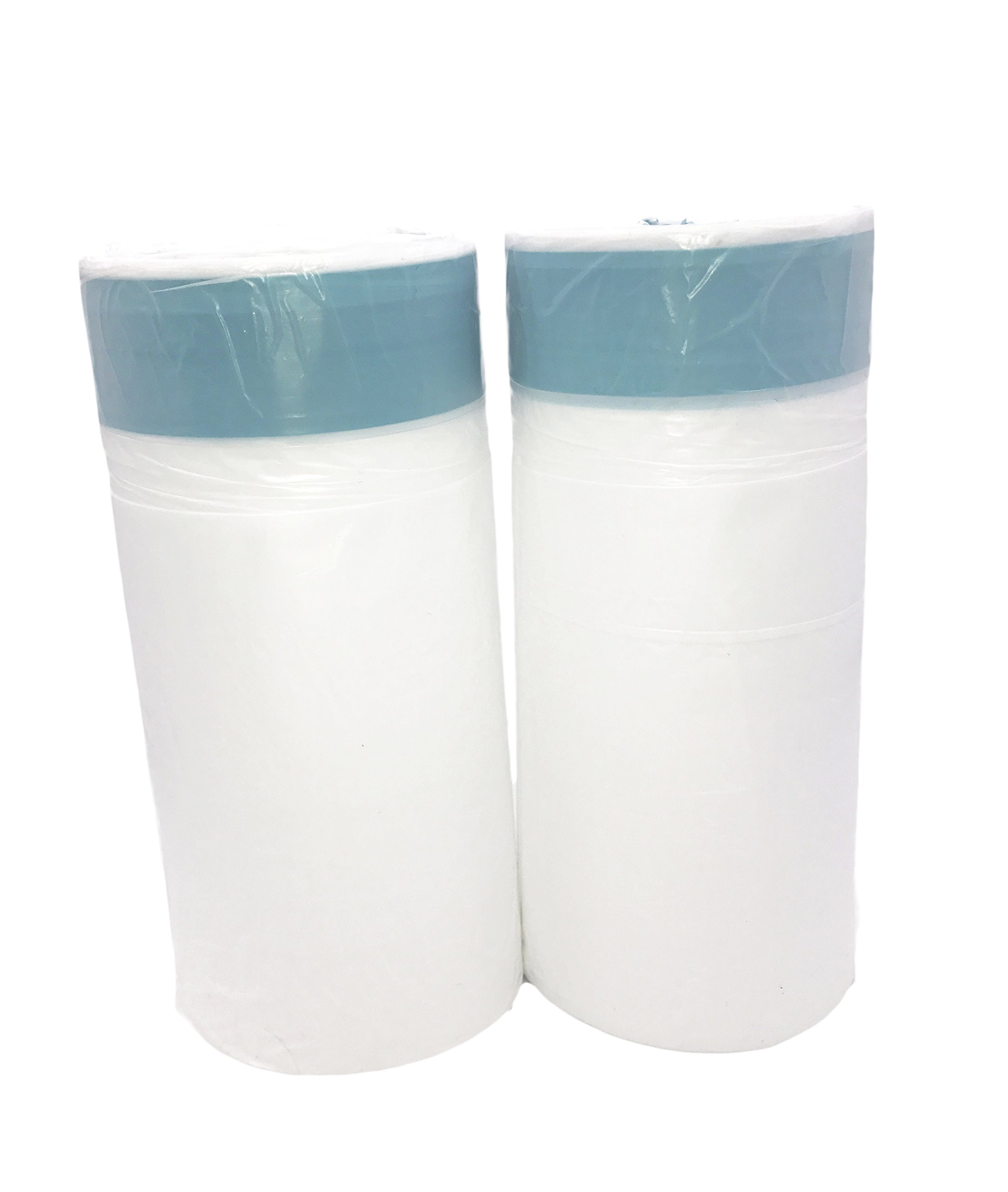 W&S 2.3 Gallon Kitchen Drawstring Strong Trash Bags, Heavy Duty, Clear, 120 Counts/ 2 Rolls by W&S (Image #1)