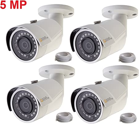 New Q-See QCN8099B 5MP IP HD POE Network Bullet CCTV Security Camera